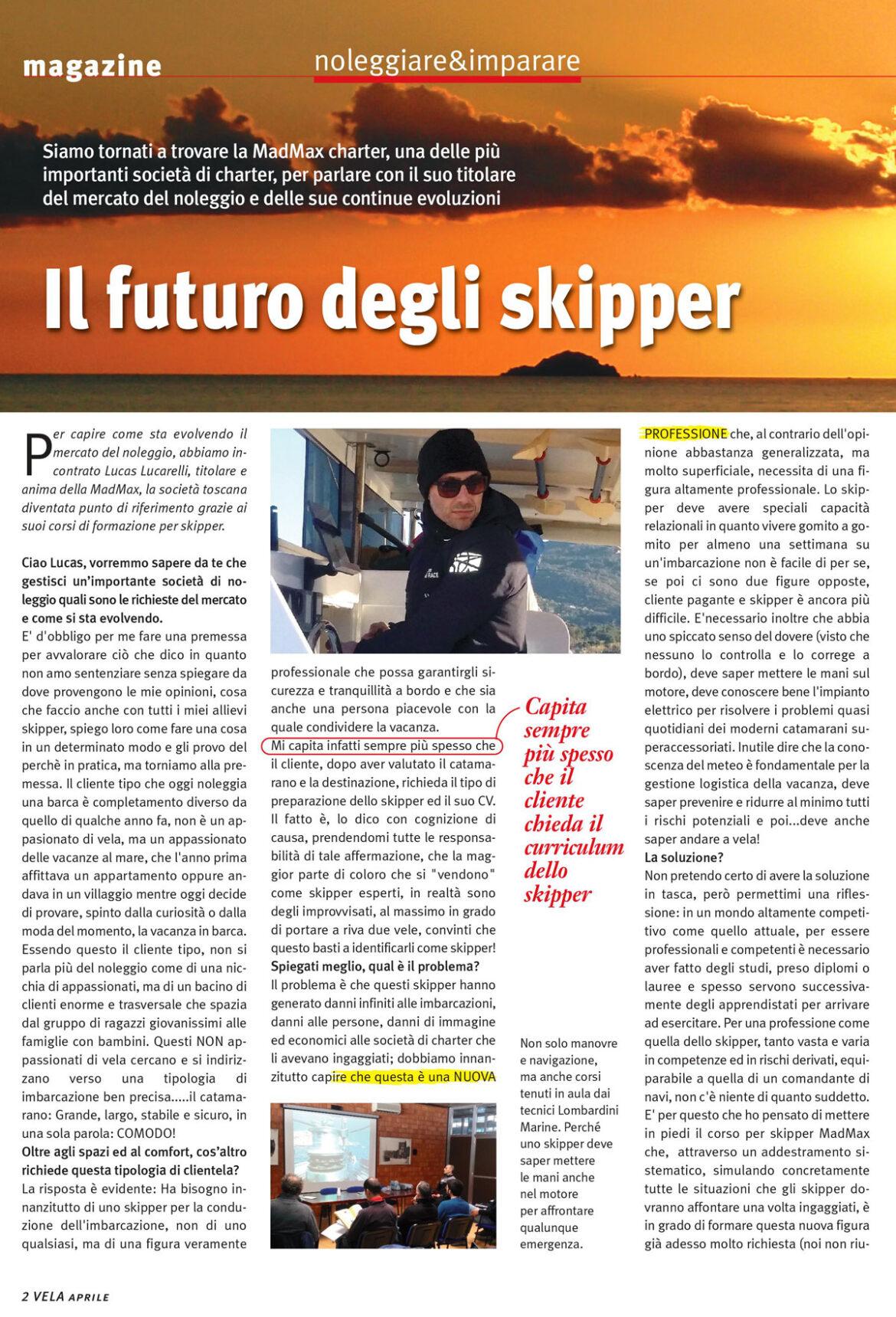 Intervista a MadMax Charte sula rivista VELA
