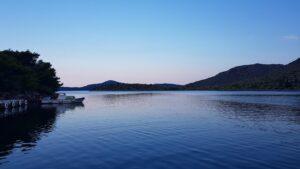 Il tramonto visto a bordo del catamarano