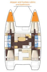 Pianta Catamarano Lagoon 400S2
