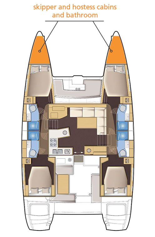 Catamaran Lagoon 450F map