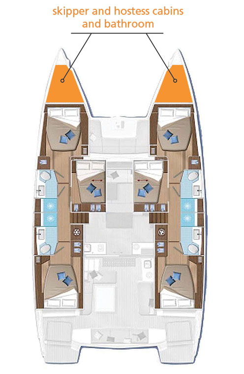 Pianta Catamarano Lagoon 50