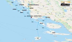 Croatia Cruise Itinerary Map