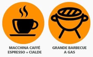 Macchina Caffè con cialde e Barbecue